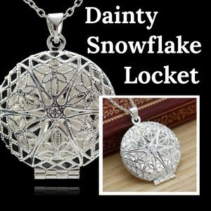 Jewelry - Snowflake ❄️ Locket Necklace